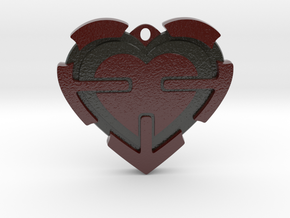 Heart Pendant  in Glossy Full Color Sandstone