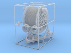 1/87th HO Scale Cable Reel Spool Trailer in Smooth Fine Detail Plastic