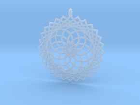 Flower of Life - Pendant 1 in Smooth Fine Detail Plastic