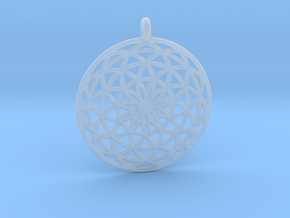 Flower of Life - Pendant 3 in Smooth Fine Detail Plastic