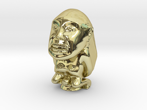 Fertility Idol (Indiana Jones) 2.5 Inches in 18k Gold Plated Brass