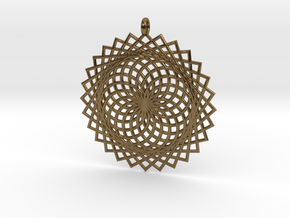 Flower of Life - Pendant 2 in Polished Bronze