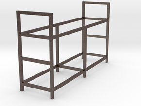 Tire Storage Rack 1/24 - 1/25 Scale Diorama in Polished Bronzed Silver Steel