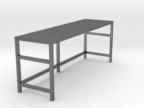 Garage Workbench 1/24 in Polished Nickel Steel