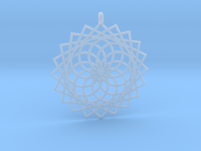 Flower of Life - Pendant 4 in Smooth Fine Detail Plastic