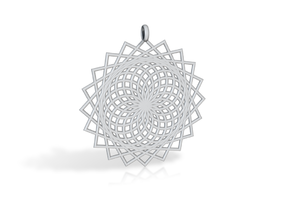 Flower of Life - Pendant 6 in Polished Gold Steel