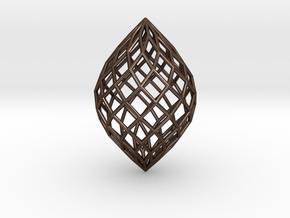 0513 Polar Zonohedron E [11] #001 in Polished Bronze Steel