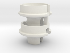 0042 - TLR22 3.0 Low-Offset Spring Cup Set in White Natural Versatile Plastic