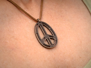 Peace Connection in Polished Bronze Steel