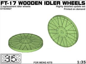 ETS35027 - FT-17 Idler (wooden) [1:35] in Smooth Fine Detail Plastic