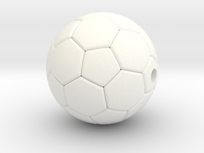 Soccer Ball Pendant  in White Processed Versatile Plastic