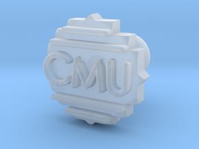Cufflink Final in Smooth Fine Detail Plastic