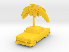 56 Chevy BelAir Menu Holder in Yellow Processed Versatile Plastic