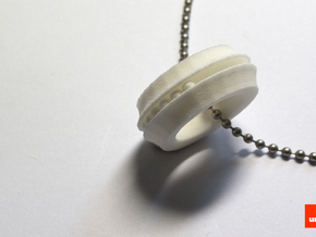 Bearing-ring (pendant) in White Natural Versatile Plastic