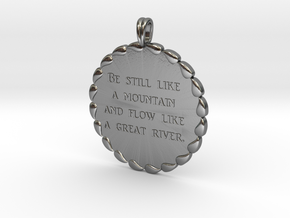 Be Still Like A Mountain | Jewelry Necklace in Polished Silver