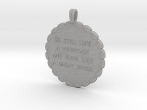 Be Still Like A Mountain | Jewelry Necklace in Aluminum