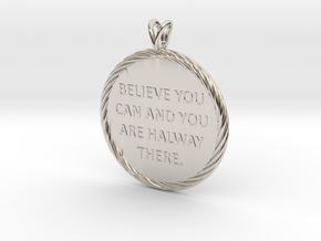 Believe you can | Quote Necklace, Pendant in Platinum