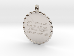 Great Things Are Done   Jewelry Quote Necklace. in Rhodium Plated Brass