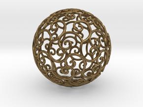 Triskel celtic sphere 3b ( 2,8+4 - 4 cm ) in Natural Bronze