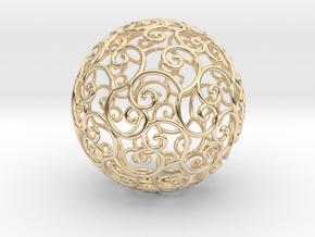 Triskel celtic sphere 3b ( 2,8+4 - 4 cm ) in 14k Gold Plated Brass