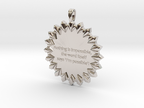 Nothing Is Impossible | Jewelry Quote Necklace. in Platinum