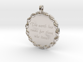 The Earth Has Music | Jewelry Quote Necklace. in Platinum