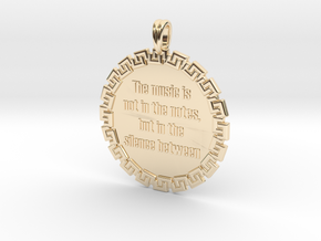 The Music Is Not In The | Jewelry Quote Necklace in 14k Gold Plated Brass