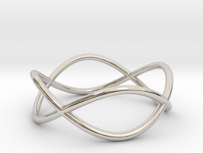 Size 7 Infinity Ring in Rhodium Plated Brass