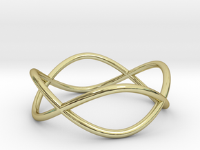 Size 7 Infinity Ring in 18k Gold Plated Brass