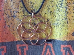 Flower of Life - Hollow Pendant V2 in 18k Gold Plated Brass