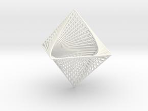 3D Strings Model 4 in White Processed Versatile Plastic