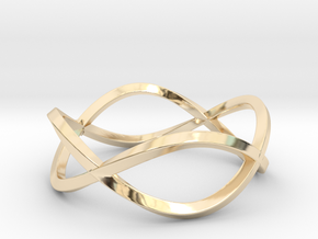 Size 9 Infinity Twist Ring in 14K Yellow Gold