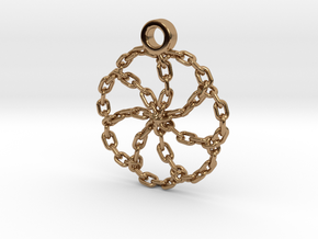 Chain Link Pendant in Polished Brass