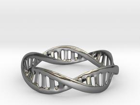 DNA Bracelet (Medium) in Polished Silver