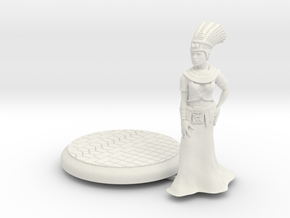 28mm Cleopatra with base in White Natural Versatile Plastic
