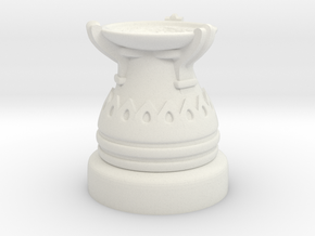 28mm Egyptian Cauldron  in White Natural Versatile Plastic