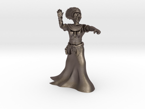 35mm Cleopatra Zombie Witch in Polished Bronzed Silver Steel