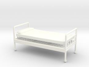 Bed 01.  1:24 scale in White Processed Versatile Plastic