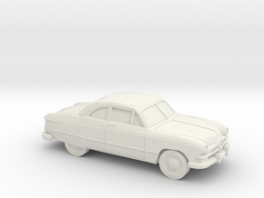 1/87 1950 Ford Fordor Coupe in White Strong & Flexible