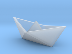 Classic Origami Boat in Smooth Fine Detail Plastic