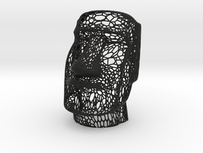 Moai Voronoi Style (Easter Island Sculpture) in Black Strong & Flexible