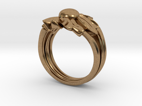 Flower of Love in Natural Brass