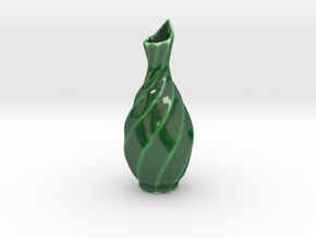 lucky 8 Sake Bottle 八 in Gloss Oribe Green Porcelain