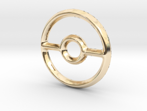 Pokeball (Open) Charm - 11mm in 14K Yellow Gold