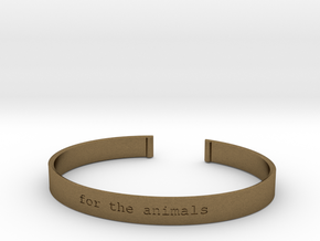 For the Animals Bracelet in Natural Bronze