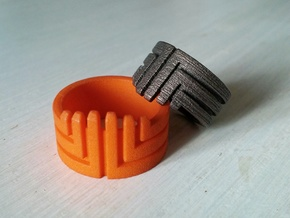MEDUSA Original Design Ring [Multiple Sizes] in Orange Processed Versatile Plastic