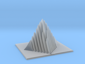 Miniature Pyramid Sculpture in Smooth Fine Detail Plastic