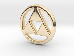 Triforce Charm - 11mm in 14K Yellow Gold