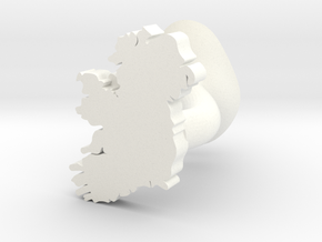 Sligo Cufflink in White Processed Versatile Plastic
