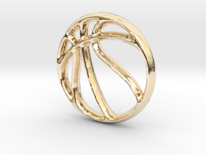 Basketball Charm - 11mm in 14K Yellow Gold